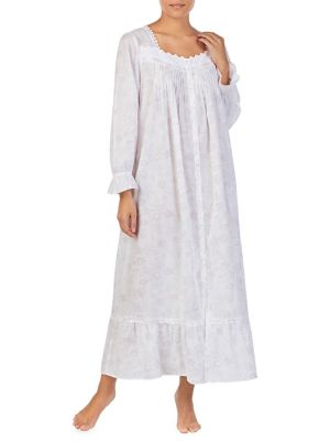 3a02ab8a7d Floral-Print Cotton Long Nightgown