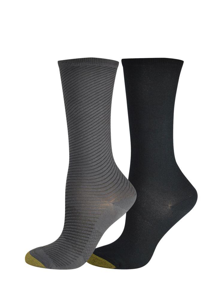 76900a6da3274 Goldtoe - Womens Two-Pack Little Black Stripe Socks - thebay.com