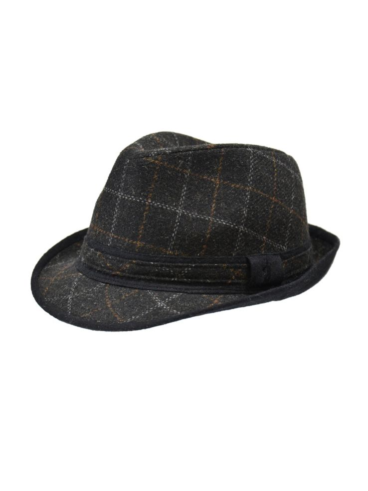 London Fog - London Fog Windowpane Tweed Fedora - thebay.com 1944152d47d