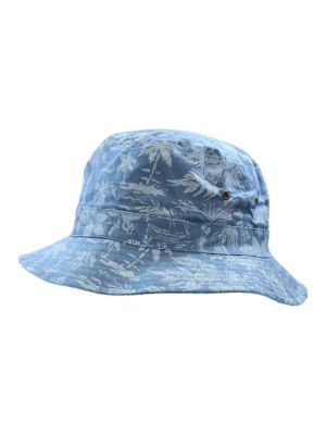 4624f1e3917 Hawaiian Print Cotton Bucket Hat LIGHT BLUE. QUICK VIEW. Product image
