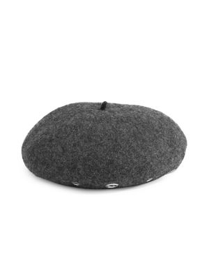 5a0106f5aaa Wool-Blend Eyelet Beret GREY. QUICK VIEW. Product image