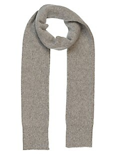 Textured Ribbed Wool-Blend Scarf