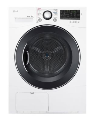 DLEC888W 4.2 Cu. Ft. Capacity Compact Electric Dryer with NeveRust Stainless Steel Drum - White photo