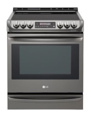 LSE5613BD 6.3 cu. ft. Slide-In Electric Range with ProBake Convection- Black Stainless photo