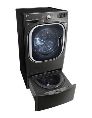 WD100CK 1.0 Cu. Ft. SideKick Pedestal Washer Black Stainless Steel photo