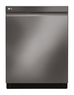LDP6797BD Top Control with Flush Handle QuadWash and Height Adjustable 3rd Rack - Black Stainless Steel photo