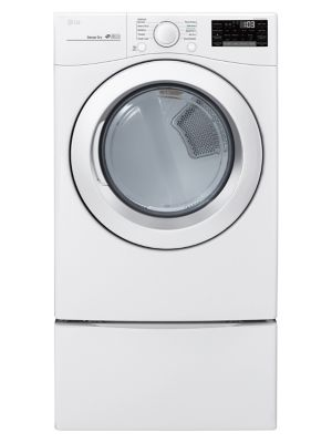 DLE3090W - 7.4 Cu. Ft. Ultra Large Capacity Electric Dryer With Sensor Dry - White photo
