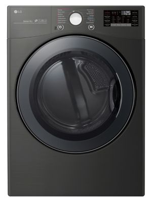 DLEX3900B 7.4 cu. ft. Electric Dryer with SmartThinQ WiFi and TurboSteam® - Black Steel photo
