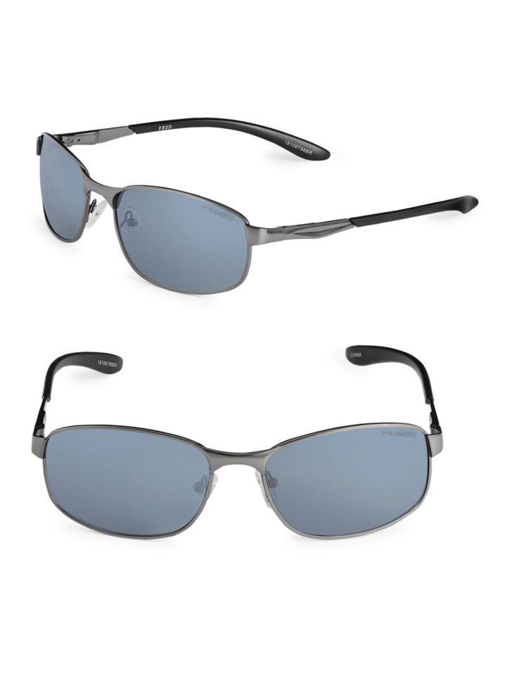 4a4bb13dc71c Izod - 59mm Polarized Rectangle Sunglasses - thebay.com