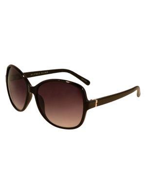 1523025014fe4 54MM Square Gradient Sunglasses BLACK. QUICK VIEW. Product image