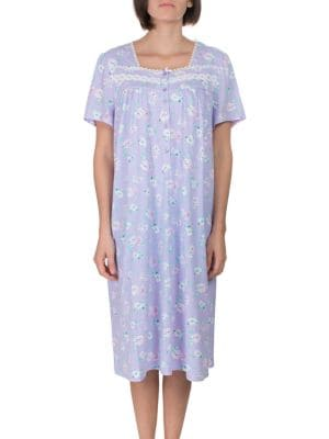 Lace-Trimmed Printed Nightgown 5474c892c