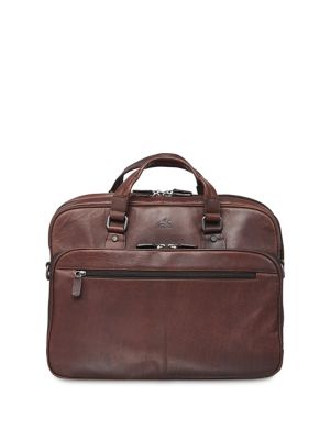 Buffalo Expandable Double-Compartment Leather Briefcase BROWN. QUICK VIEW.  Product image 91e2d0fcc2635