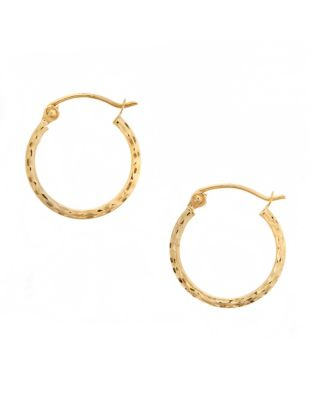 5b66ca6a5 14K Yellow Gold Square Tube Hoop Earrings GOLD. QUICK VIEW. Product image