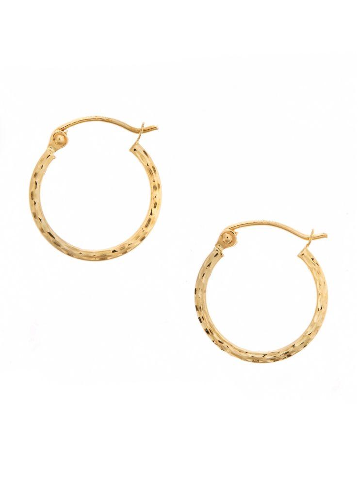 82b13c545f8 Fine Jewellery - 14K Yellow Gold Square Tube Hoop Earrings - thebay.com