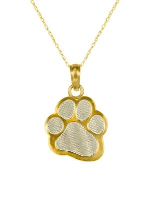33b080332b23 Product image. QUICK VIEW. Fine Jewellery. Pawprint 10K Yellow Gold Pendant  Necklace