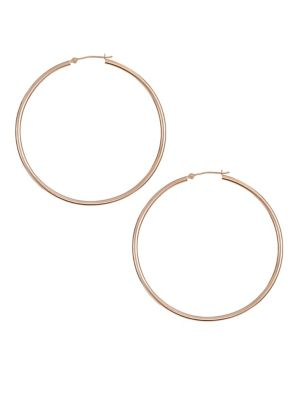91a642450 14K Rose Gold Tube Hoop Earrings