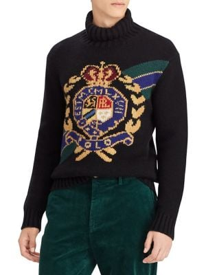 fb6b8b539a23dc Product image. QUICK VIEW. Polo Ralph Lauren. Crest Turtleneck Wool Sweater