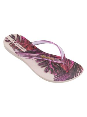 Printed PVC Flip Flops BEIGE PINK. QUICK VIEW. Product image 09faf23cd778