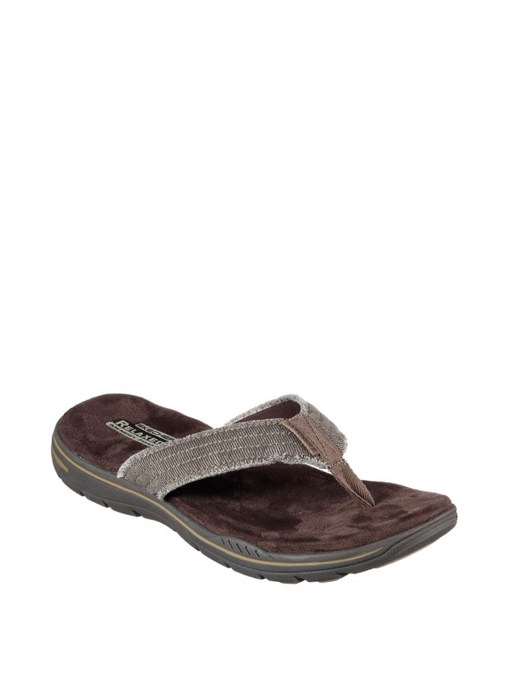 a0b94b63b846 Skechers - Evented Arven Canvas Thong Sandals - thebay.com