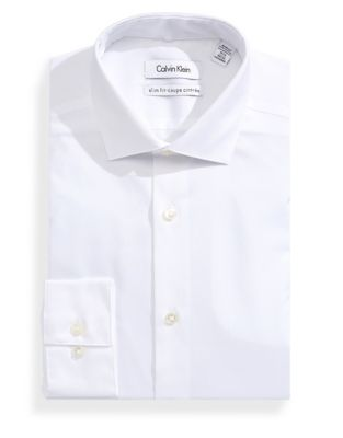 Slim Textured Dress Shirt WHITE. QUICK VIEW. Product image. QUICK VIEW. Calvin  Klein 1ed8f63c2