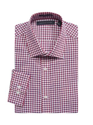 49171a6e5 Product image. QUICK VIEW. Tommy Hilfiger. Slim-Fit Plaid-Print Dress Shirt