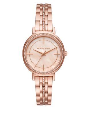 23d399c20225 QUICK VIEW. Michael Kors. Analog Cinthia Pave Rose-Goldtone Bracelet Watch