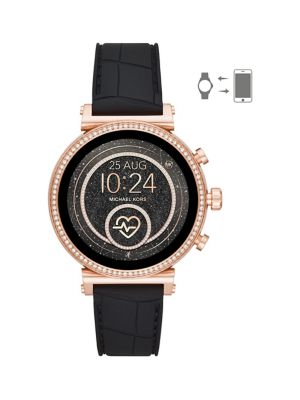 9ea3aa0d5fcf QUICK VIEW. Michael Kors. Sofie 2.0 Silicone Strap Smart Watch