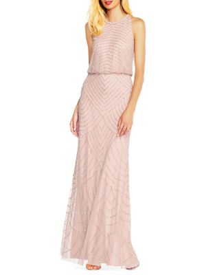 a428055213 Beaded Sleeveless Gown NAVY. QUICK VIEW. Product image. QUICK VIEW. Adrianna  Papell