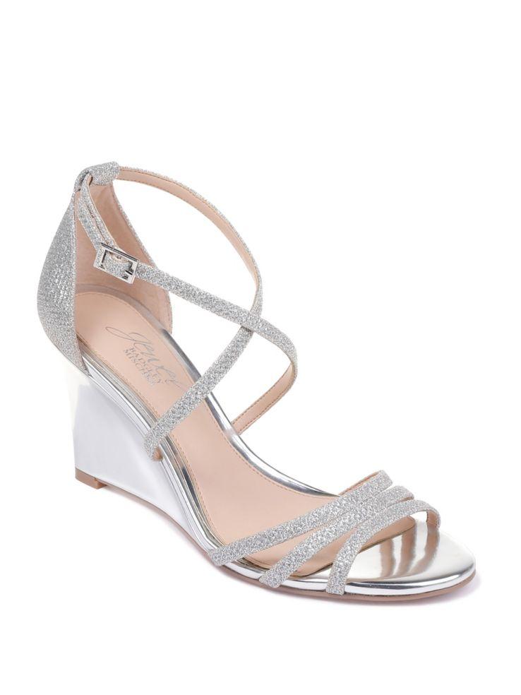 77ee2f5fd Jewel Badgley Mischka - Hunt Textured Wedge Sandals - thebay.com