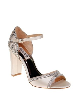 a60677ce90a Product image. QUICK VIEW. Badgley Mischka. Kelly Satin Block Heel Sandals