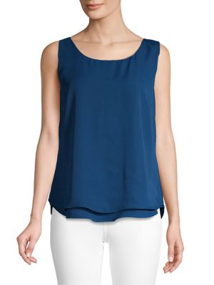 80aa927655607f Basic Sleeveless Tank Top BLUE. QUICK VIEW. Product image