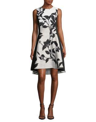 9da890248e2 Sleeveless Colourblock Floral Dress WHITE BLACK. QUICK VIEW. Product image