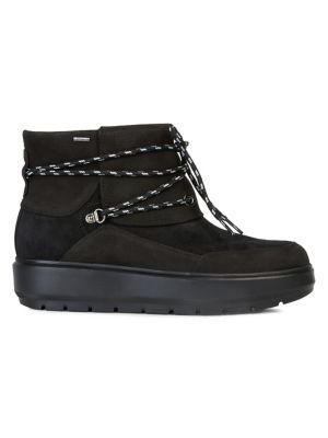Details about New Geox Amphibiox Alex Leather Black Mid Cut Men's Boots 47 13