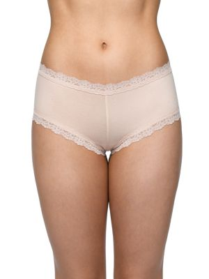 6dbda02cf46 QUICK VIEW. Hanky Panky. Cotton With A Conscience Lace-Trimmed Boyshorts