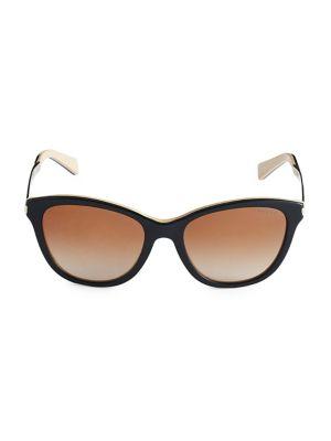 Ralph Lauren 54 MM Goldtone Cat Eye Sunglasses