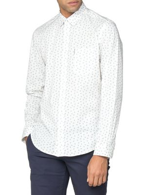 2a8aa6a6a QUICK VIEW. Ben Sherman. Printed Long-Sleeve Button-Down Shirt
