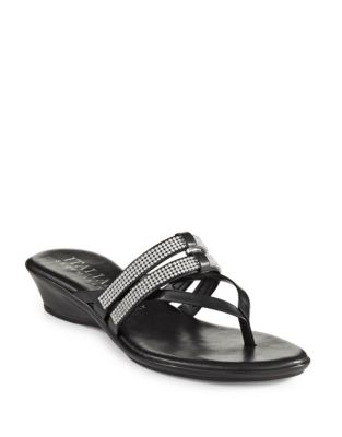 3d01dfdf8f3b8a QUICK VIEW. Italian Shoemakers. Jewel Thong Slide Sandals