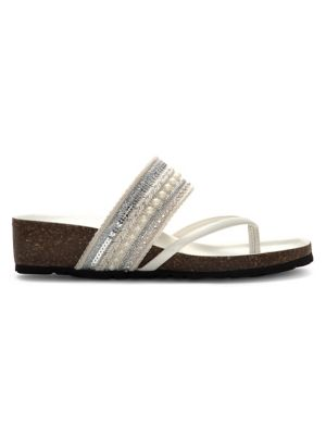 c2478e85b7b5 QUICK VIEW. Italian Shoemakers. Embellished Wedge Sandal