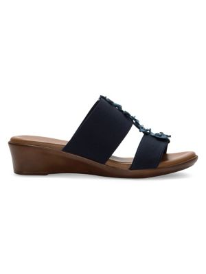 eb6f374ad Elastic Slide Sandals NAVY. QUICK VIEW. Product image. QUICK VIEW. Italian  Shoemakers