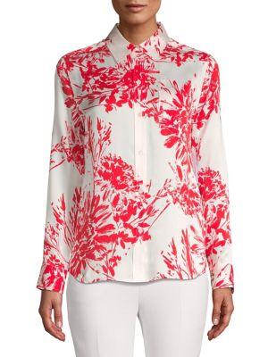717d7cf6f7 QUICK VIEW. Equipment. Brett Floral Silk-Blend Shirt