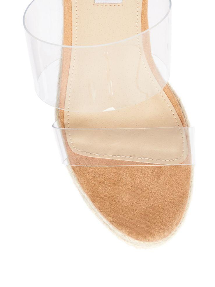 463b57751d97 Steve Madden - Sunrise Clear Wedge Espadrilles Sandals - thebay.com