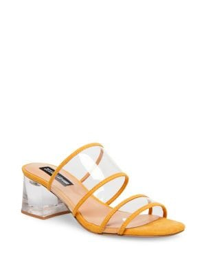 46c0872dac13 Lucite Block Heele Sandals YELLOW. QUICK VIEW. Product image