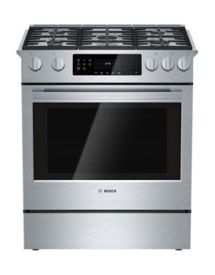 Cuisinière à gaz encastrable 76 cm HGI8054UC Série 800 de Bosch - acier inoxydable photo