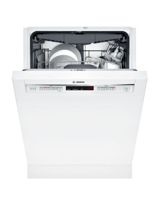 300 Series SHEM63W52N 24-inch Recessed Handle Dishwasher White photo