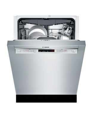 300 Series SHEM63W55N 24-inch Recessed Handle Dishwasher - Stainless steel photo