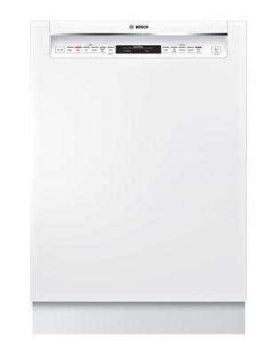SHEM78W52N 800 Series 24-inch Recessed Handle Dishwasher - White photo