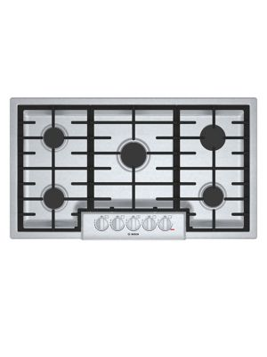 NGM8656UC-36-inch 5 Burner Gas Cooktop- Stainless Steel photo