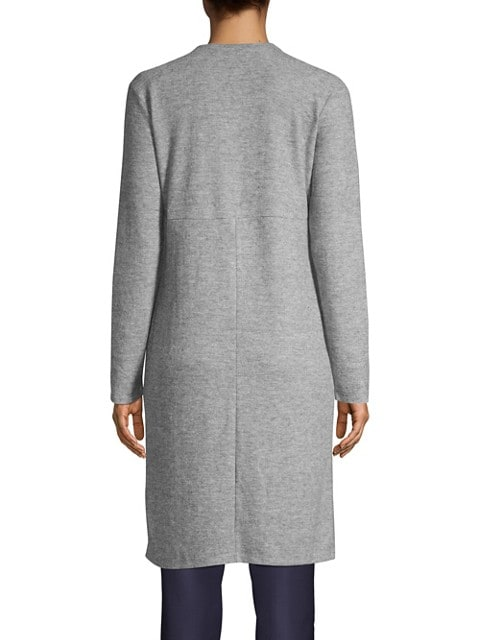 Design Lab Cardigan chiné long GRIS LUMIERE