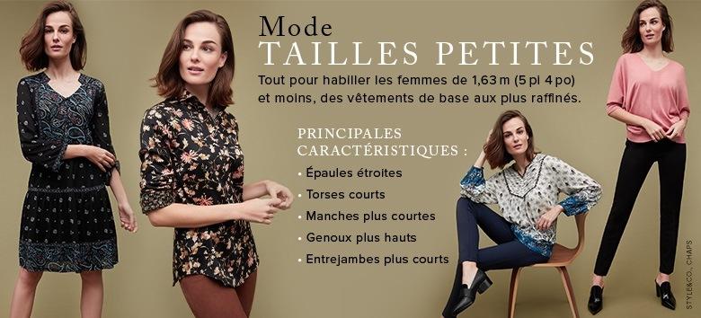 Femme Vêtements pour femme Tailles petites. Robes, hauts, jupes, shorts,  pantalons, jeans et vêtements d extérieur ... c5a4453b8034