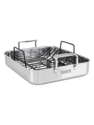 3-Ply Stainless Steel Roasting Pan with Non-Stick Rack photo